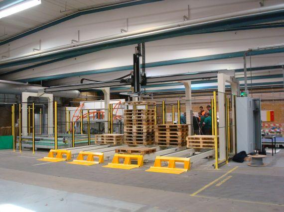 Fastpal pallet loading robotloaded with several stacks of pallets